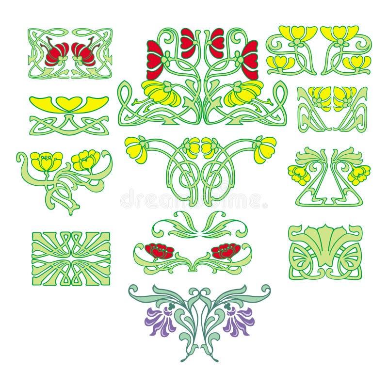 Grabado de la flor ilustración del vector