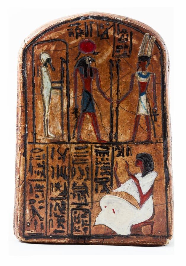 Grabado del egipcio imagenes de archivo
