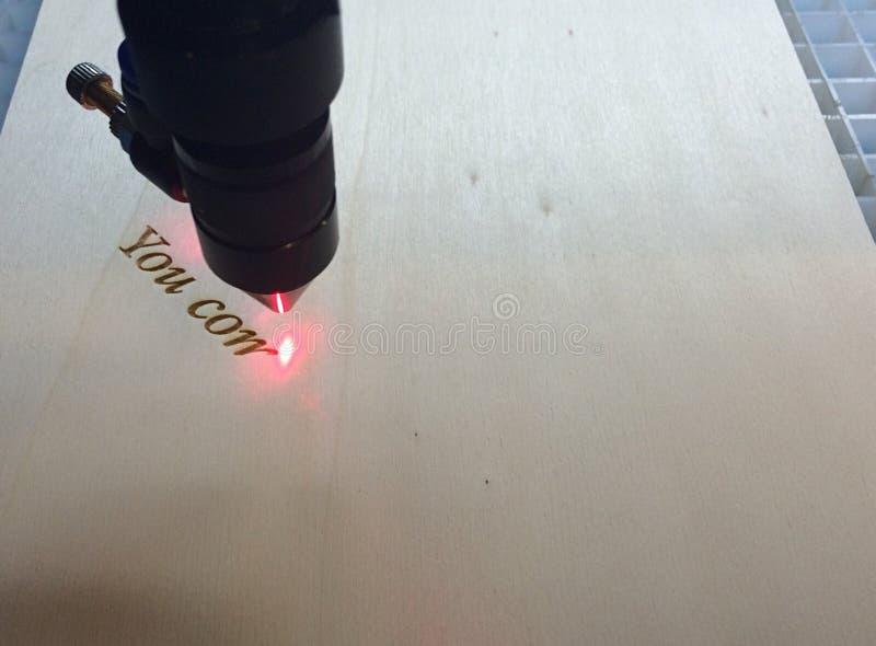 Grabado del laser fotografía de archivo libre de regalías