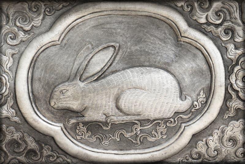 Grabado del valor de plata, símbolo del zodiaco imágenes de archivo libres de regalías