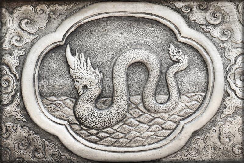 Grabado del valor de plata, símbolo del zodiaco fotos de archivo