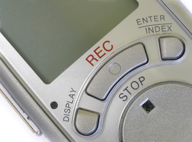 Grabadora de voz foto de archivo libre de regalías