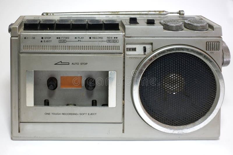 Grabadora retra del casete del arenador fotografía de archivo