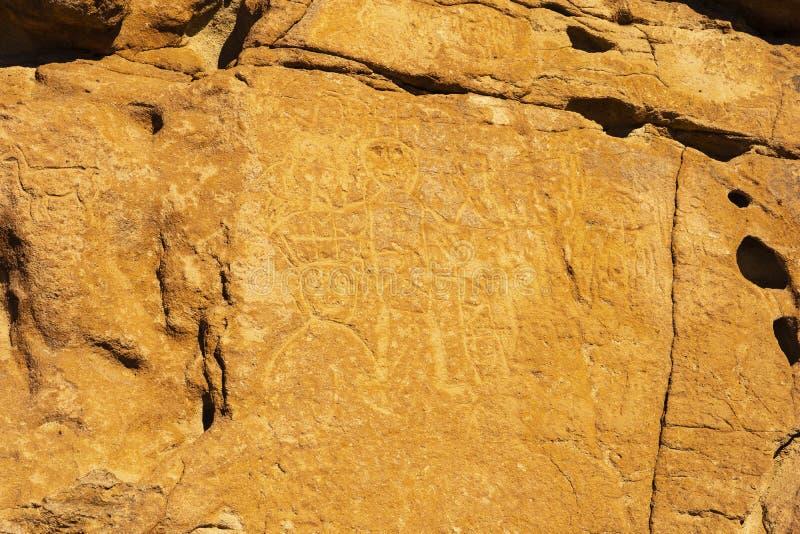 Grabados prehistóricos de la cueva cerca de San Pedro De Atacama, Chile fotos de archivo libres de regalías
