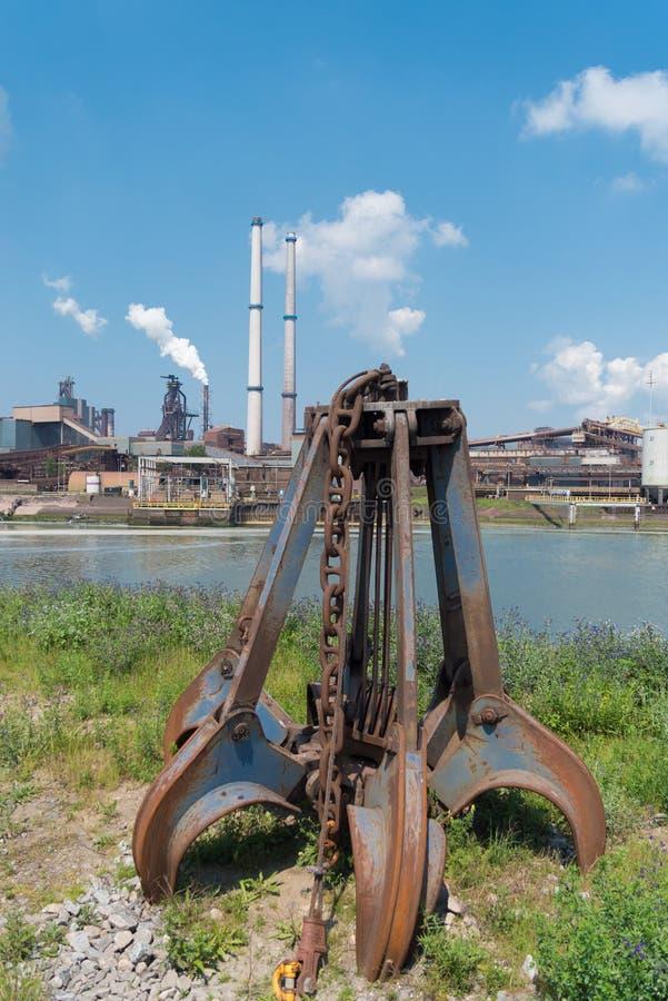 Grabber oxidado do ferro fotos de stock