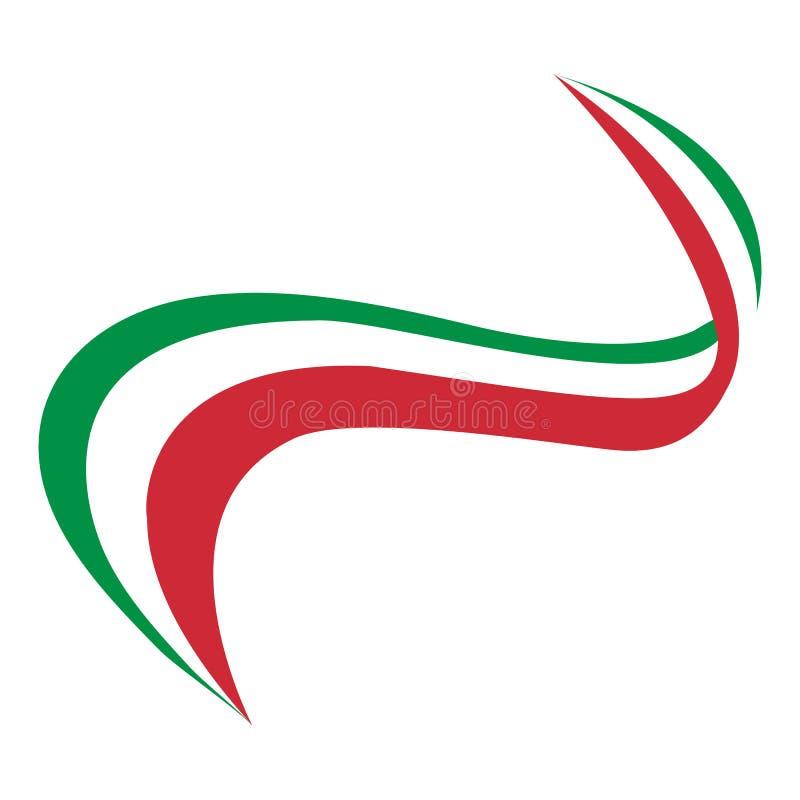 Grabe la bandera de Italia ilustración del vector