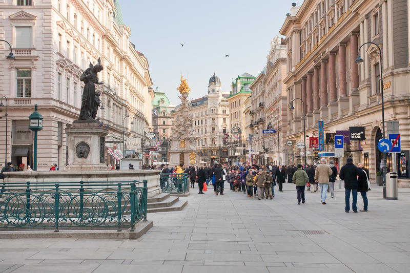 Graben, Street In The Center Of Vienna Editorial Image