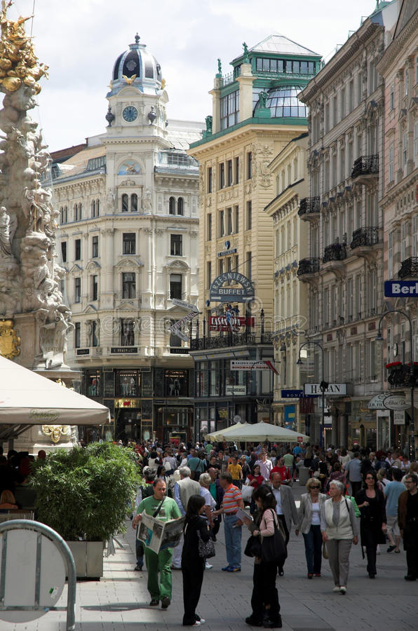 Graben Street, Vienna royalty free stock photos