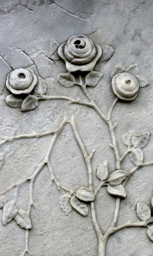 Grabstein-Rosen stockbilder