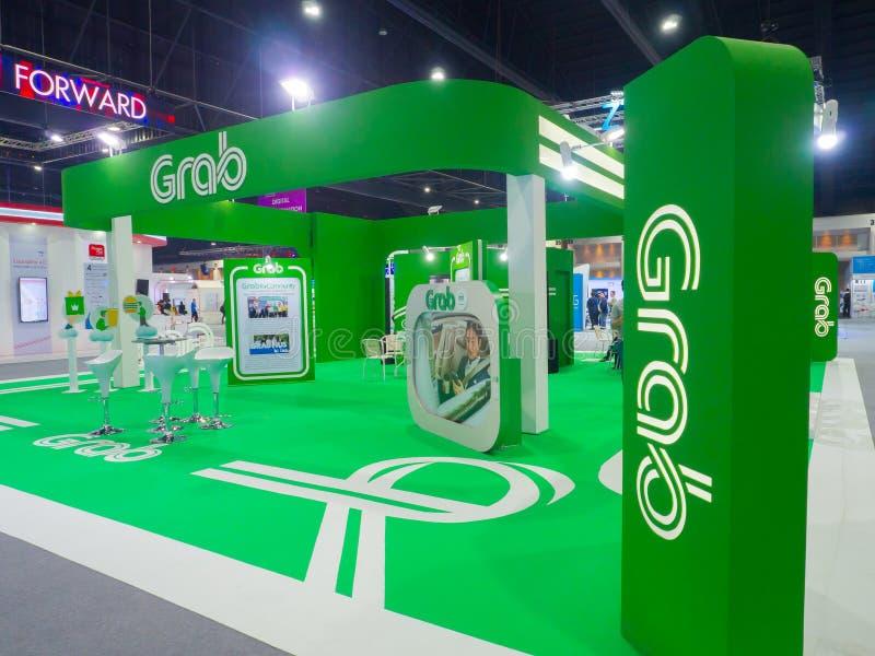 GrabTaxi-Holdings Pte ltd. ist eine Singapur-ansässige Technologiefirma, die Logistikdienstleistungen durch seine APP anbietet lizenzfreie stockfotografie
