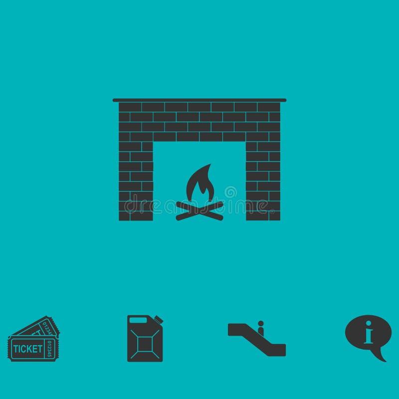 Graby ikony mieszkanie ilustracja wektor