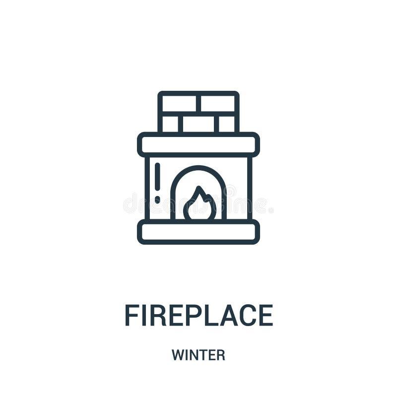 graby ikony wektor od zimy kolekcji Cienka kreskowa graba konturu ikony wektoru ilustracja Liniowy symbol dla używa na sieci ilustracja wektor