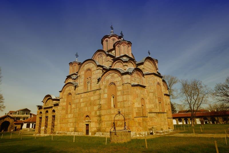 Gracanica-Kloster (UNESCO-Einzelteil) lizenzfreie stockfotos