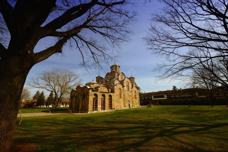 Gracanica-Kloster (UNESCO-Einzelteil) lizenzfreies stockfoto