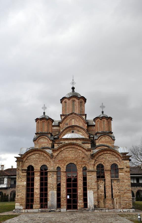 Gracanica - Servisch Orthodox klooster stock afbeeldingen