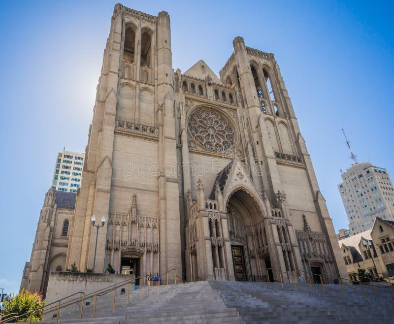 Grace Cathedral em San Francisco, Califórnia fotografia de stock royalty free