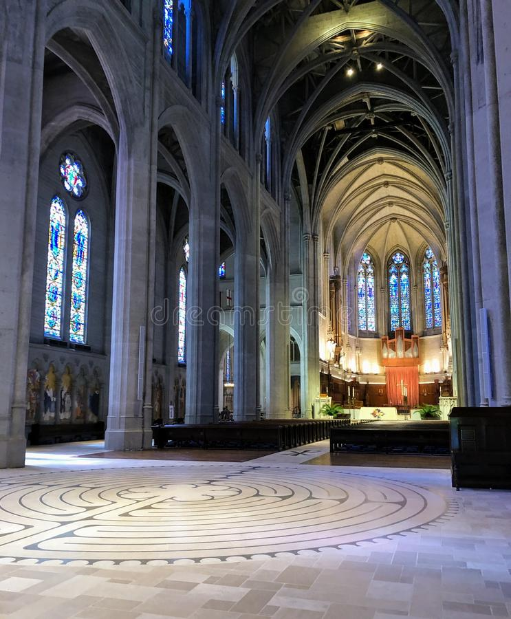 Grace Cathedral interno imagens de stock