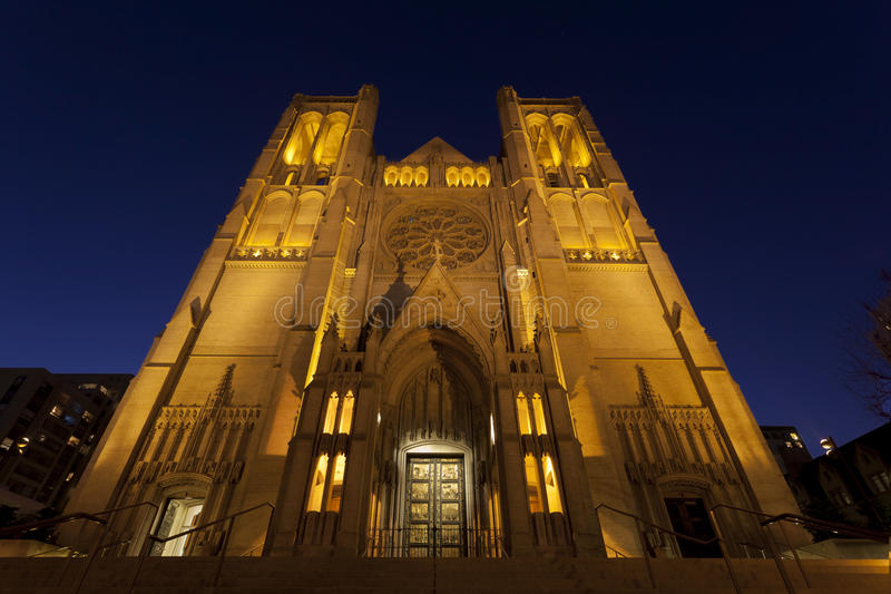 Grace Cathedral, San Francisco stock photo