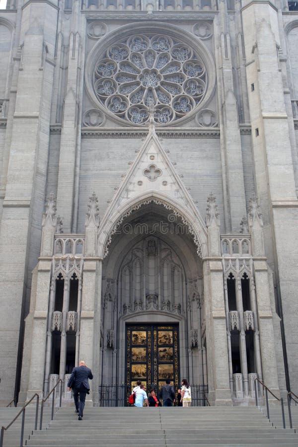 Grace Cathedral, San Francisco, de V.S. stock fotografie
