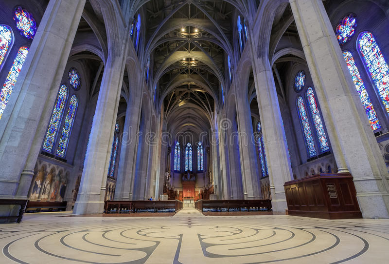 Grace Cathedral at San Francisco royalty free stock images