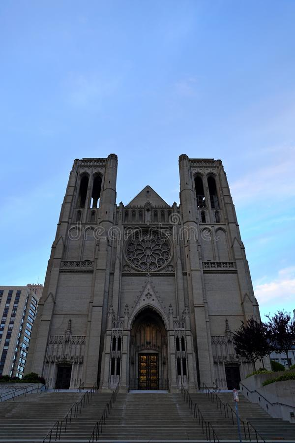 Grace Catholic Cathedral em San Francisco, Califórnia, EUA foto de stock