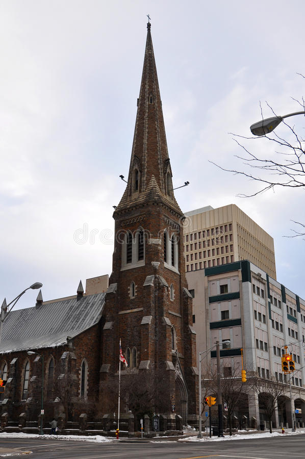 Grace Church, Stato di New York di Utica, U.S.A. fotografia stock