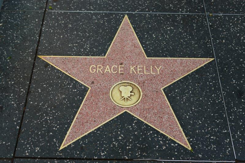Grace Kelly-ster op de Hollywood-Gang van Bekendheid stock foto