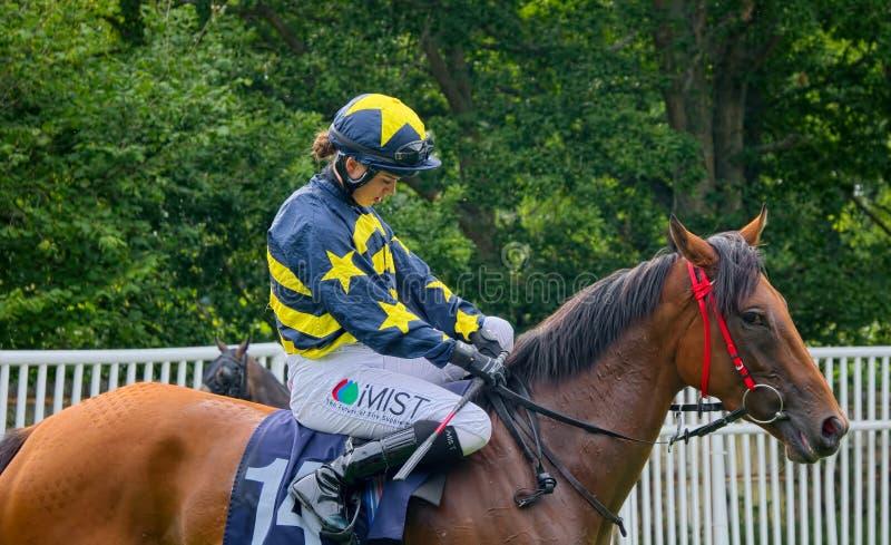 Grace McEntee Apprentice-Pferderennen Jockey stockfoto