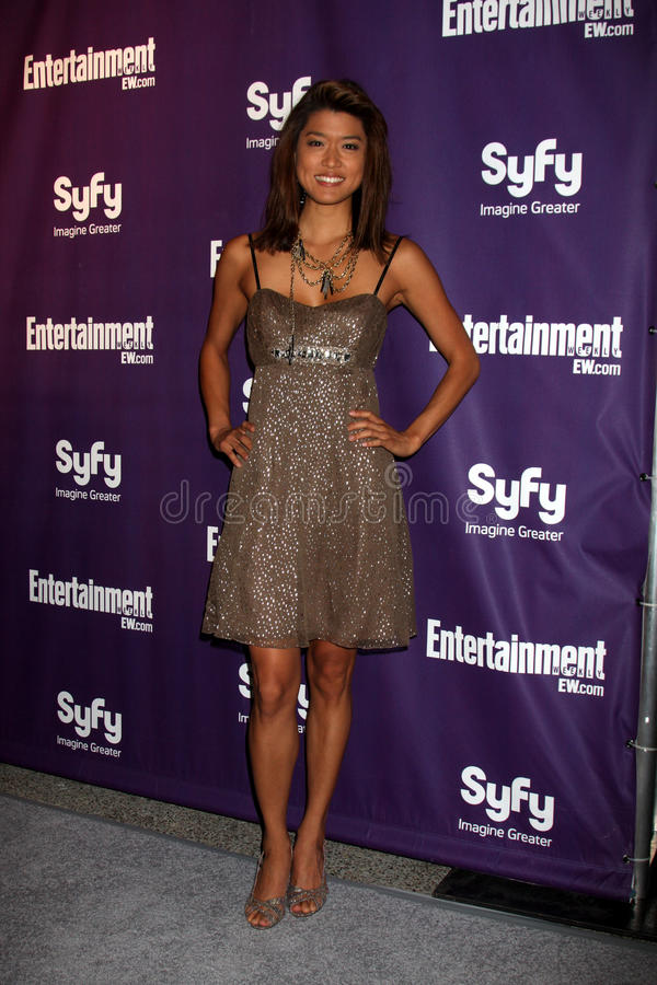 Grace Park. Arriving at the SyFy / Entertainment Weekly Party at the Hotel Solamar J6 Bar in San Diego, CA on July 25, 2009 2009 Kathy Hutchins / Hutchins Photo royalty free stock photo