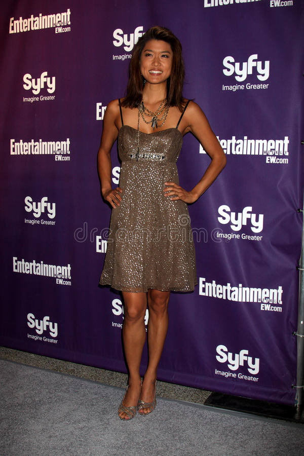 Grace Park. Arriving at the SyFy / Entertainment Weekly Party at the Hotel Solamar J6 Bar in San Diego, CA on July 25, 2009 2009 Kathy Hutchins / Hutchins Photo royalty free stock images