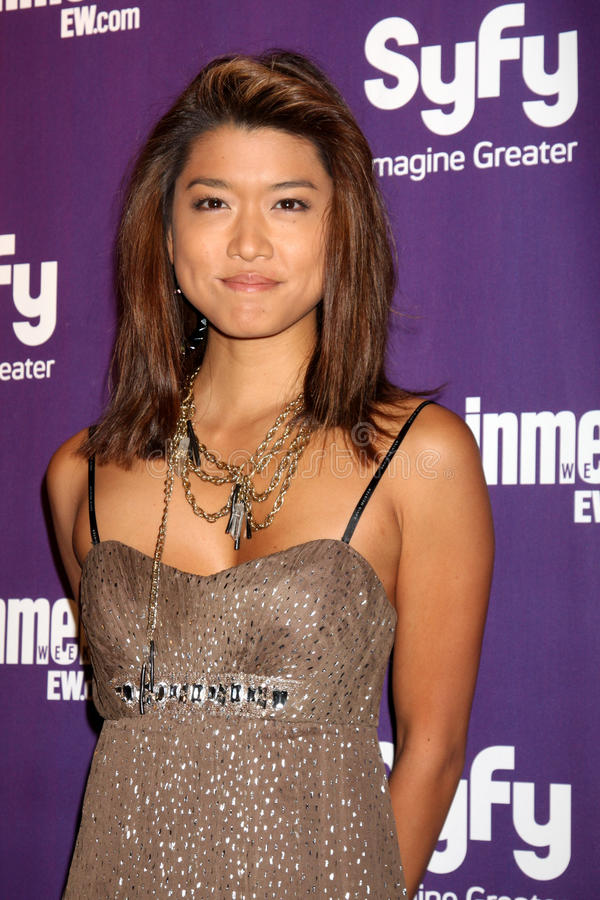 Grace Park. Arriving at the SyFy / Entertainment Weekly Party at the Hotel Solamar J6 Bar in San Diego, CA on July 25, 2009 2009 Kathy Hutchins / Hutchins Photo stock images