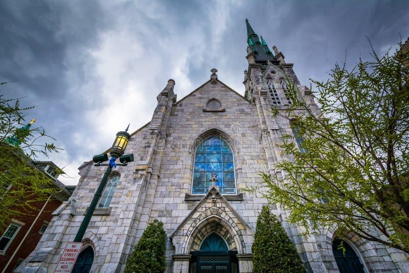 Grace United Methodist Church en Harrisburg céntrica, Pennsy fotografía de archivo libre de regalías