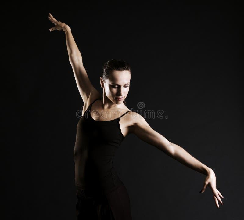 Graceful ballerina stock photo
