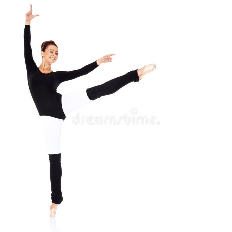 Graceful Ballerina Training Royalty Free Stock Photos