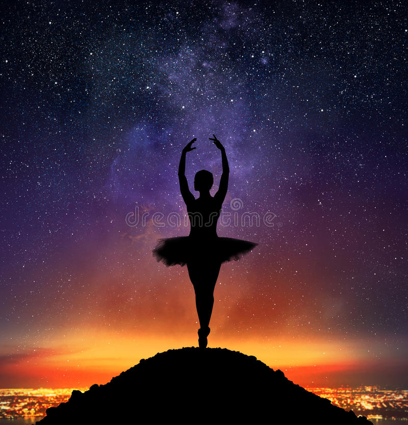 Graceful classical dancer royalty free stock images