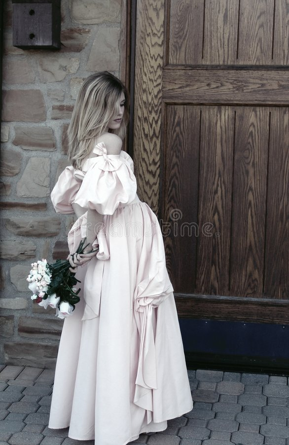 Download Graceful Entrance - Sepia stock photo. Image of lady, flowers - 113620