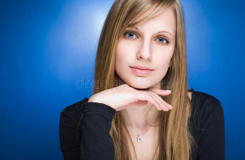 Download Graceful Friendly Young Blond Woman. Stock Image - Image: 23695053