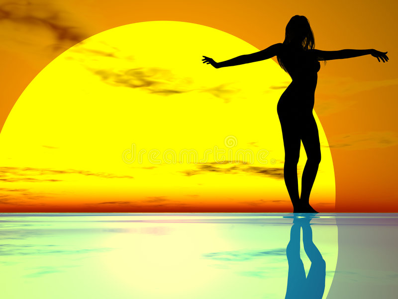 Download Graceful Girl stock illustration. Image of figure, curves - 270550