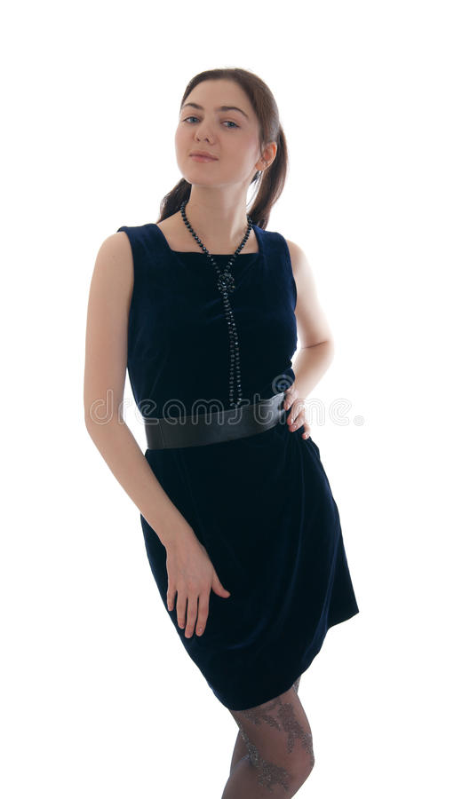 Download Graceful girl stock photo. Image of woman, isolated, dress - 27369534