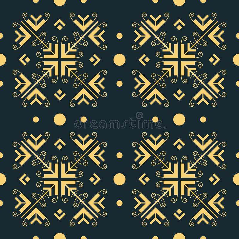 Graceful openwork seamless pattern in oriental style vector illustration