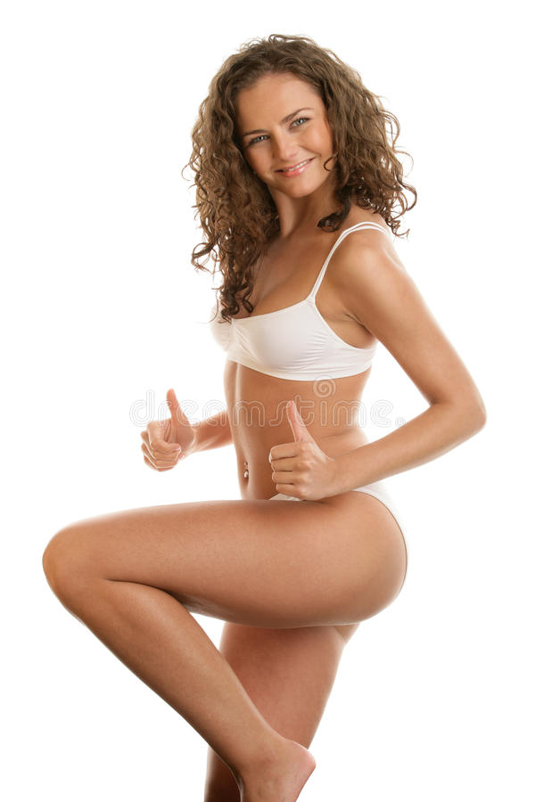 Download Graceful Woman With Thumbs Up Stock Image - Image: 13874473