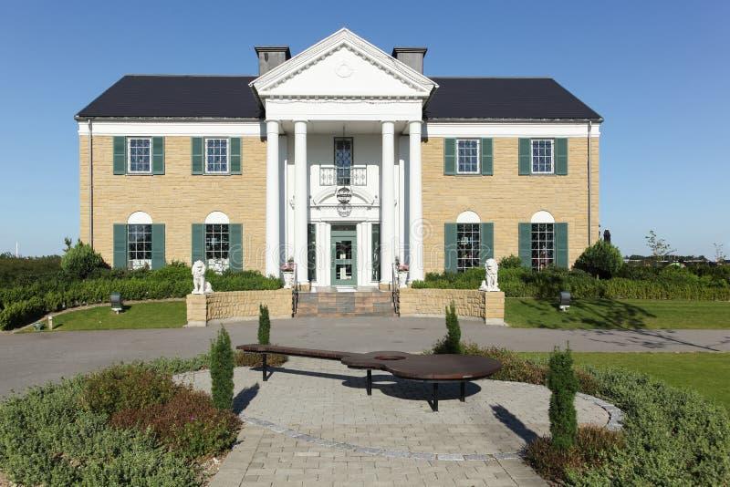 Graceland,埃尔维斯・皮礼士利博物馆在兰讷斯,丹麦 免版税库存照片