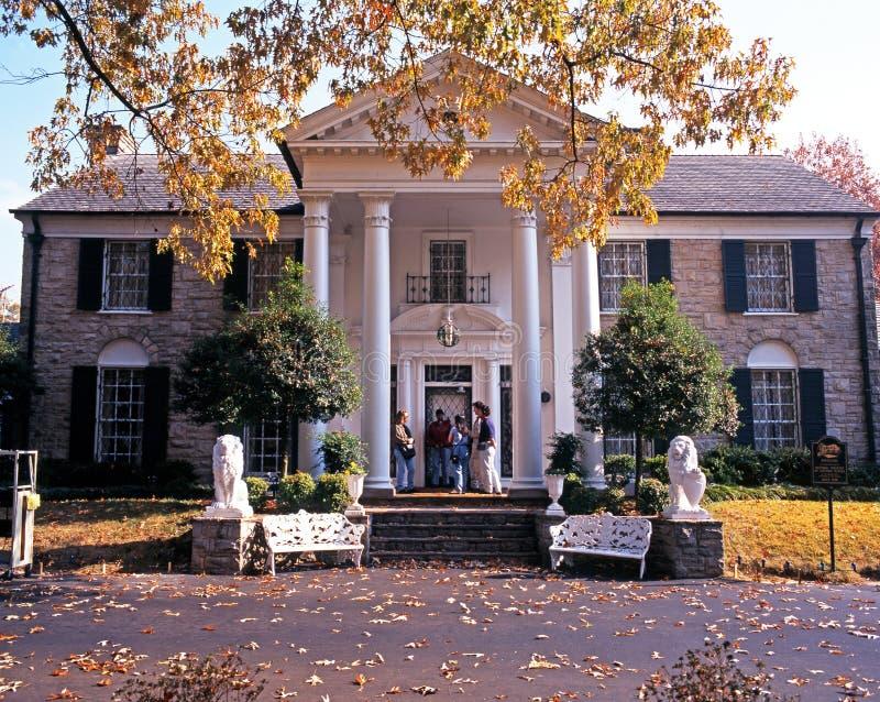Graceland,孟菲斯正面图  库存图片