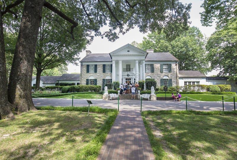 Graceland hem av Elvis Presley royaltyfri foto