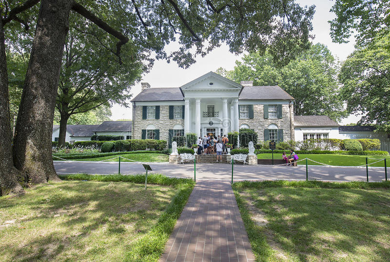 Graceland, maison d'Elvis Presley photo libre de droits