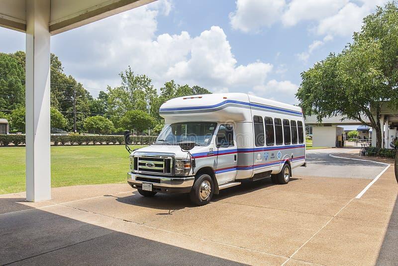 Graceland Shuttle Bus. For visitors to Graceland mansion, home of Elvis Presley stock photo