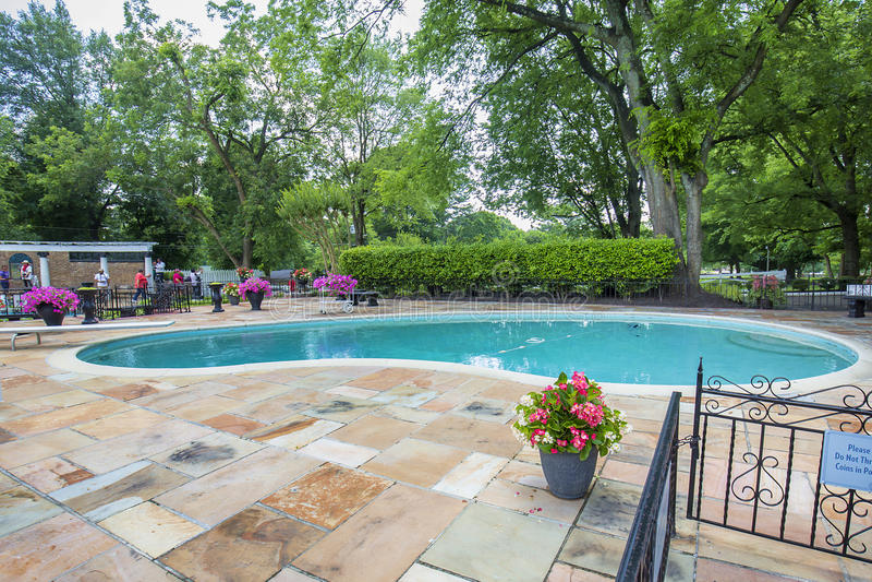 Graceland-Swimmingpool lizenzfreie stockfotos