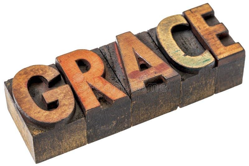 Graci słowa abstrakt w letterpress drewna typ zdjęcia stock