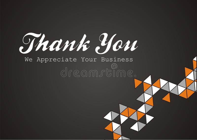 Gracias - apreciamos su negocio ilustración del vector