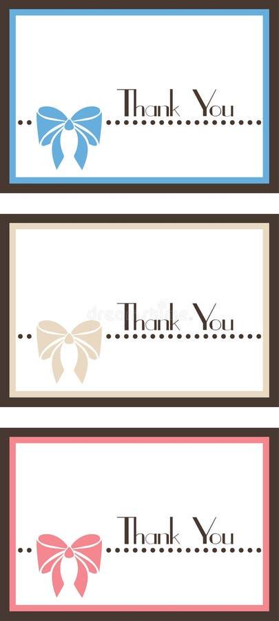 Gracias el conjunto de tarjeta 01 ilustración del vector